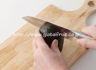 アボカドの切り方2