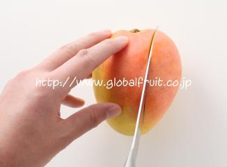 オーストラリアマンゴーの切り方1-1