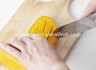 メキシコマンゴーの切り方2
