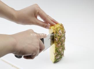 パイナップルの切り方5