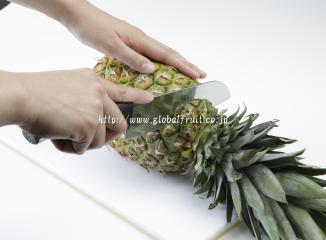 パイナップルの切り方1