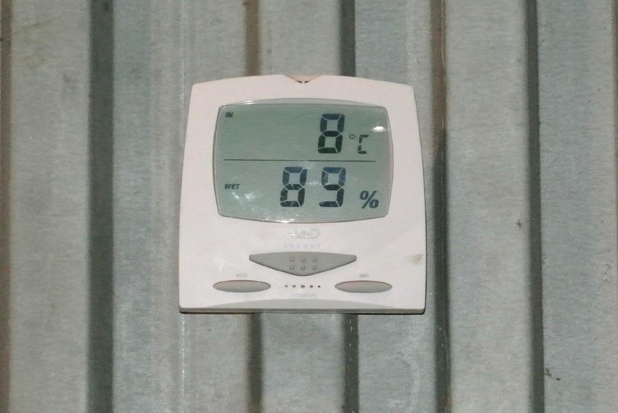 パイナップル倉庫室温