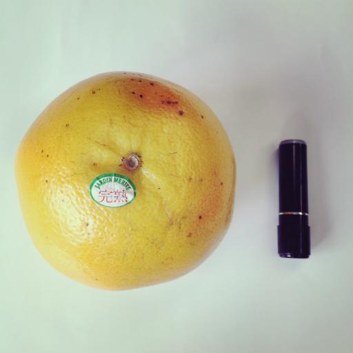 グレープフルーツ × 印鑑