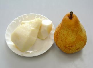 西洋梨の切り方5