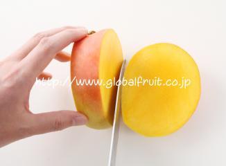 オーストラリアマンゴーの切り方1-2