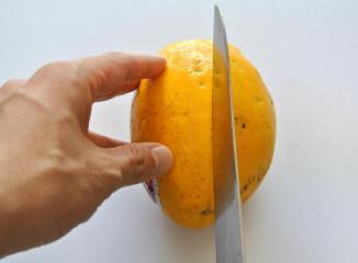 パパイヤの切り方2