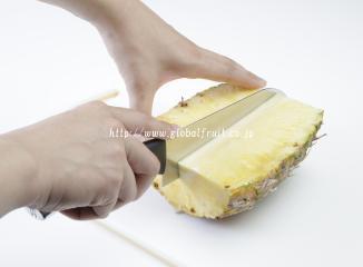 パイナップルの切り方3