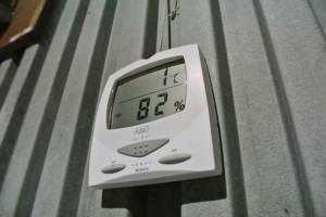 ぶどう倉庫室温