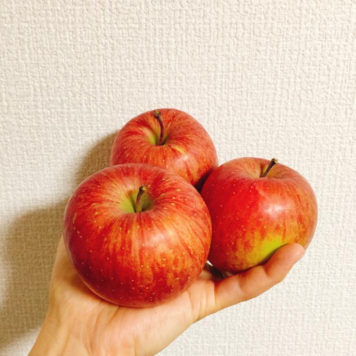 産直市のりんご
