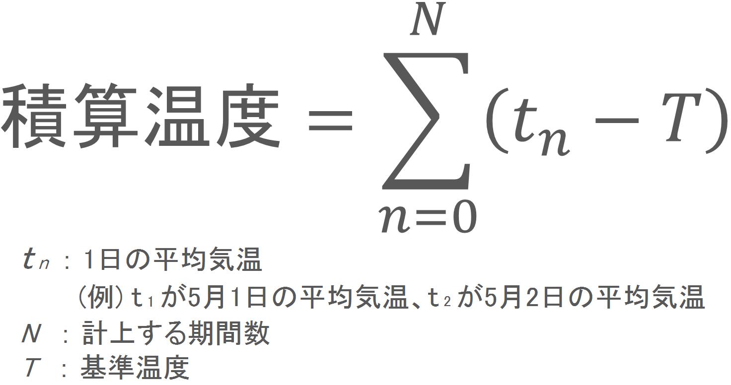 積算温度の計算式
